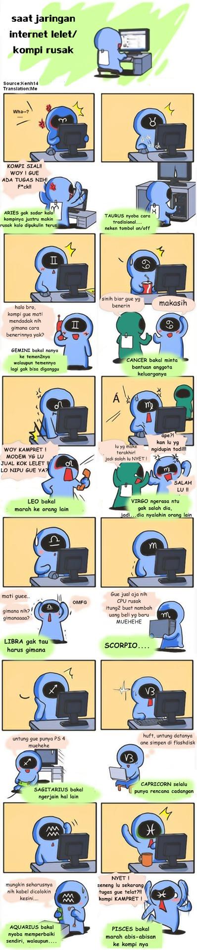 internet lelet, komputer rusak